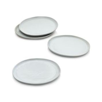 Welcome White Dinner Plates (Set of 4)