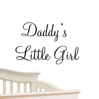 Daddy's Little Girl Nursery Wall Decals Cute Baby Quote Vinyl Nursery Wall Qu...