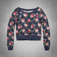 Floral Print Sleep Sweatshirt