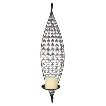 Metal Wall Decor Sconce with Candle Holder By Home Source
