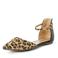 Le Leopard Pointy Flats