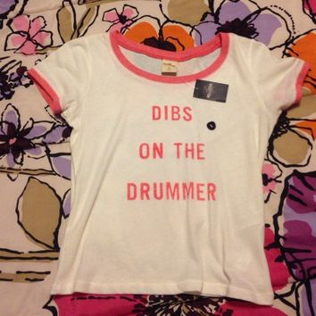 Hollister Dibs On The Drummer shirt
