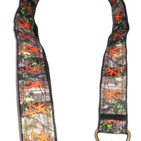 Camo Ribbon Lanyard, ID Holder, hunters