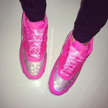 Crystal Nike Air Max 90's in Barbie Pink (Fully Crystallised)