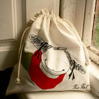 Natural Colored Bread Bag Poissondrieke, eco-friendly, gym bag, reusable multi-purpose drawstring