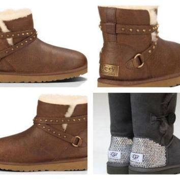 CREY1O Custom UGG Boots made with Swarovski Emerson Free: Shipping, Repair Kit, Cleaning Kit,