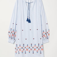 Striped tunic - White/Blue striped - Ladies | H&M GB