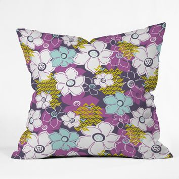 Heather Dutton Petals and Pods Orchid Throw Pillow