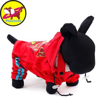 2017 Petcircle Free Shipping Hot Sale Dog Raincoat Clothing High Quality New Fashion Waterproof Breathable 2 Color Dog Clothes