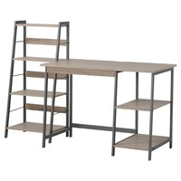 Homestar 2-Piece Set - Laptop Desk & 4-Shelf Bookcase - Reclaimed Wood