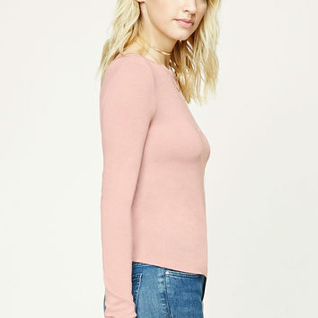 Contemporary Marled Knit Top