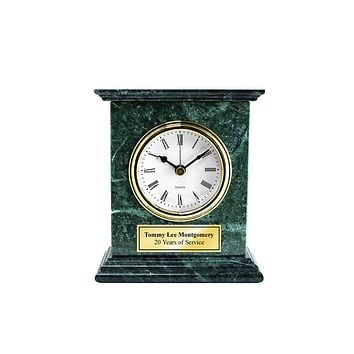 Engraved Clock Marble Desk Table Shelf Retirement Gift Employee Recognition Service Award Wedding Anniversary Boss Appreciation Coworker