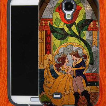BeautyandTheBeaststainedglass,Accessories,Case,Cell Phone,iPhone 4/4S,iPhone 5/5S/5C,Samsung Galaxy S3,Samsung Galaxy S4,Rubber,27-11-16-Hk