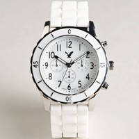 AEO White Chronograph Watch | American Eagle Outfitters