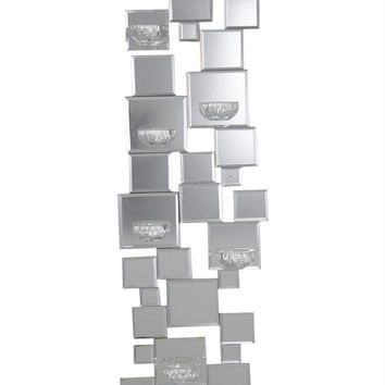 Charismatic  Mirrored 6 Candle Wall Sconce, Silver -Sagebrook Home