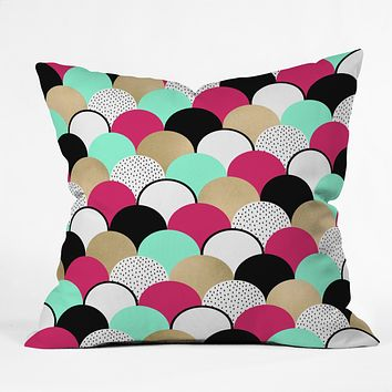 Elisabeth Fredriksson Neon Gumdrops Throw Pillow