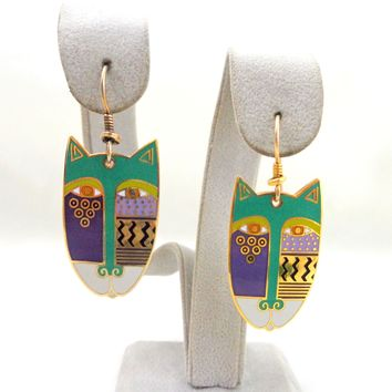 "Vintage LAUREL BURCH ""Native Cats"" Earrings"