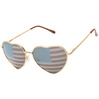 Flag Gold Aviator Sunglasses