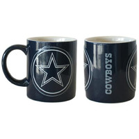 Dallas Cowboys NFL Coffee Mug - 14oz Sculpted Warm Up (Single Mug)