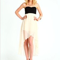 Tiered Chiffon Hi Low Dress
