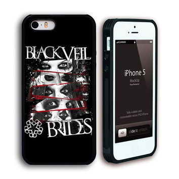 Customize Black Veil Brides Back Case for iphone5 5S Tpu Case-512 = 1930083652