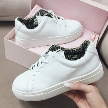 Inside Out White Platform Sneakers