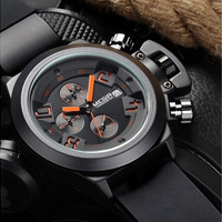 MEGIR CHRONOGRAPH 24 Hours Function Men's Sport Watch Silicone Wrist Watch Army Military Watch [8834027148]