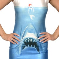 Ariel Shark Attack Sleeveless Mini Dress Design 3096