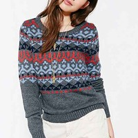 RYDER X UO Fair Isle Sweater- Grey