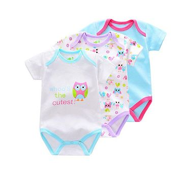 Baby Newborn Boy Baby Bodysuits Short Sleeve cotton infant Baby girl Jumpsuit Newborn Clothes