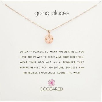 DCCKV2S Dogeared Going Places Compass Disc Chain Necklace