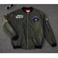 Womens Army Green Black  Bomber Jacket 2016 Spring Fall New Cusaul Military Light Camperas Baseball Cape Punk Clothing