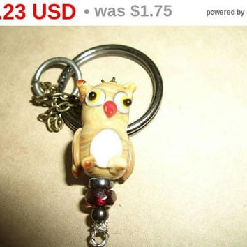 "Uses Coupon Code ""HELLO"" Owl Keychain"