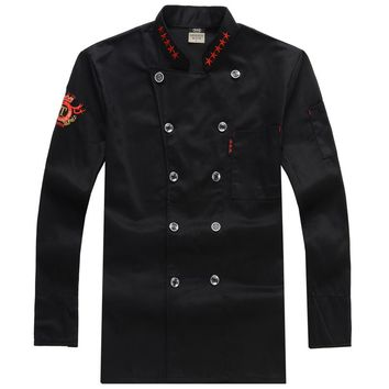 Chef Uniform Outfit Hotel  Long-sleeved Cake Snack Store After Hutch Five-star Work Uniforms Chef Clothes Cooks Clothing