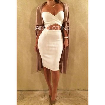 Sweetheart Ribbed 2 Piece Set - Jaide Clothing