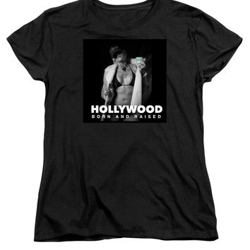 After Dark Model Elisabeth Hollywood Born - Women's T-Shirt (Standard Fit)
