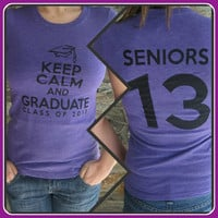Class of 2013 T-Shirt -- Purple Tee Keep Calm and Graduate