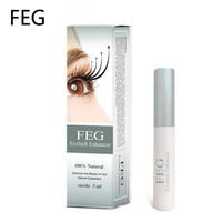 New FEG Chinese Herbal Powerful Makeup Eyelash Growth Treatments Liquid Serum Enhancer Eye Lash Longer Thicker 3ml