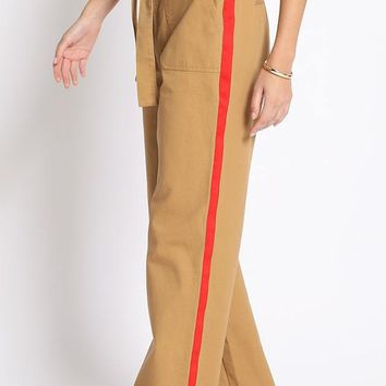 Side Chick Paperbag Pants in Khaki