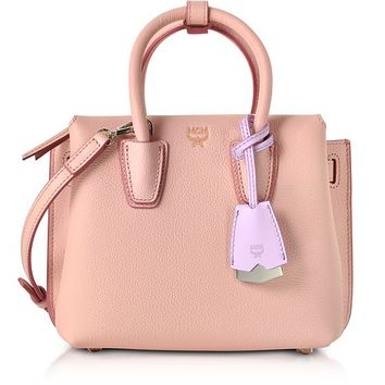 MCM Milla Pink Blush Leather Mini Tote Bag