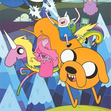 Adventure Time Cartoon Cast Poster 22x34