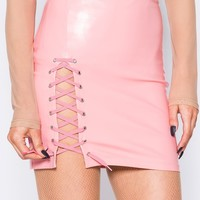 Candy Mini Lace Up Skirt