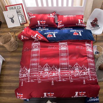 winter 4pc Bedding Set luxury Queen Single girl or kids Comfortable Bedding Sets High Quality king Bed bed sheet Kid Duvet Cover