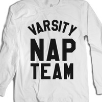 Varsity Nap Team Long Sleeve T-shirt Black