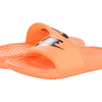 Nike Kids Benassi JDI (Little Kid/Big Kid) Atomic Orange/Black/Black - Zappos.com Free Shipping BOTH Ways