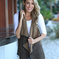 Brown Asymmetrical Vest