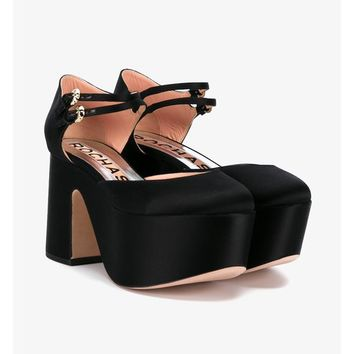 Double Strap Silk Platforms - ROCHAS
