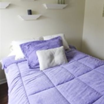 College Plush Comforter - Lavender Harvest - Twin XL - Dorm Room Comforter for College