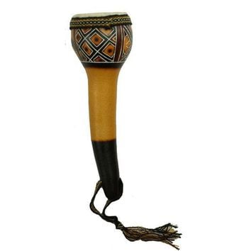 Leather Top Gourd Shaker Musical Instrument