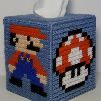 Popular Tissue Box Cover SUPER MARIO Brothers 3 Color Choices